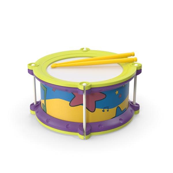 Игрушечный барабан с барабанными палочками