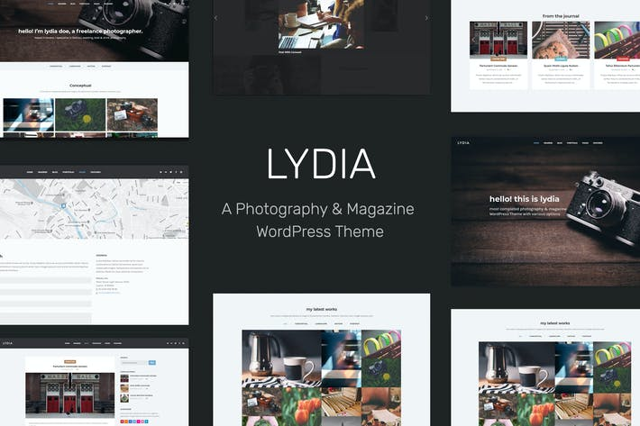 Thumbnail for Lydia - Photography & Magazine WordPress Theme
