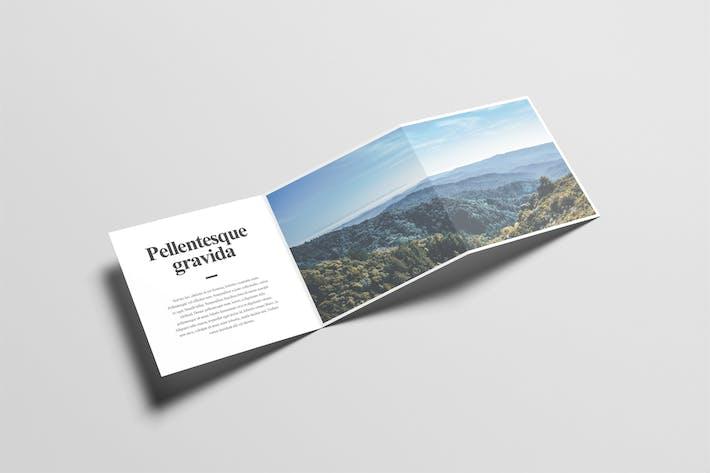 cover image for square z fold brochure mock up