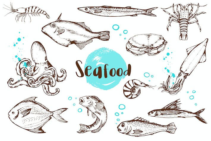 Thumbnail for Vintage Vector Seafood