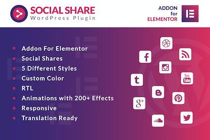 Social Share for Elementor WordPress Plugin
