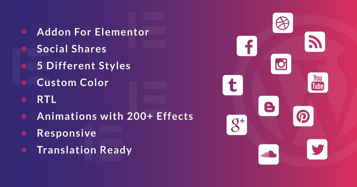 Download Social Share for Elementor WordPress Plugin by ad-theme