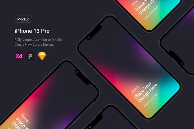 iPhone 13 Pro Black Mockup