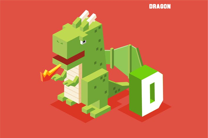 Cover Image For D for dragon. Animal Alphabet