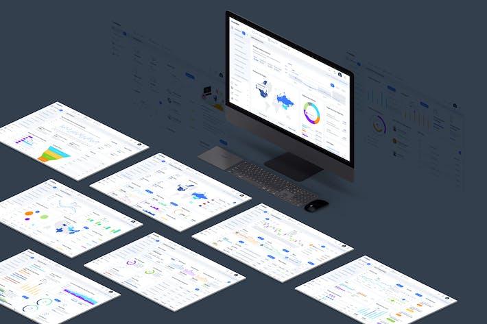 Thumbnail for Kit d'interface utilisateur du tableau de bord d'administration TWN
