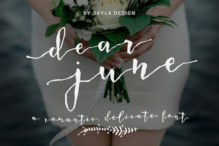 Thumbnail for Romantic wedding font - Dear June