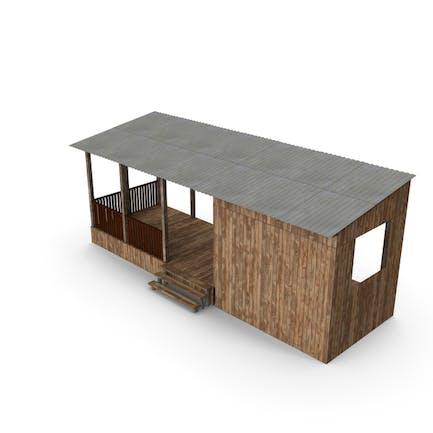 Veranda aus Holz