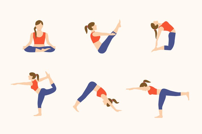 Thumbnail for 12 Yoga Poses Icon Illustrations