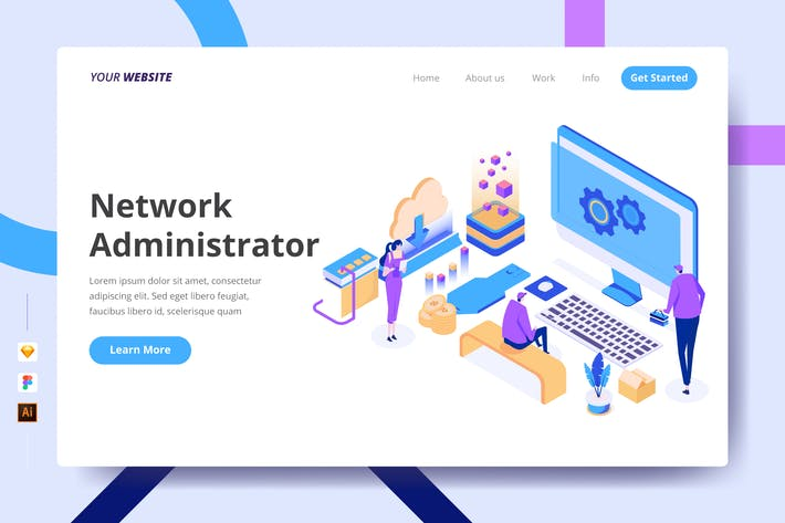 Thumbnail for Network Administrator - Landing Page
