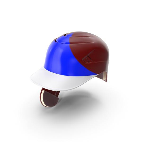 Baseball Helmet Ear Flap Red Blue Triangle