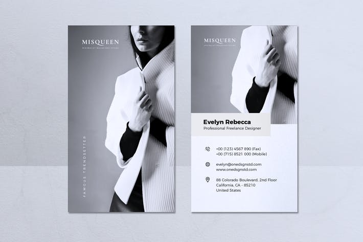 Thumbnail for Modern Minimalist Business Card Vol. 08