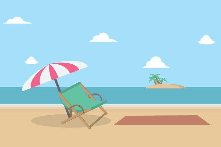 Thumbnail for Summer Beach - Illustration Background