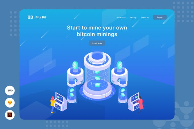 Start Your Own Bitcoin Mining - Website Header - product preview 0