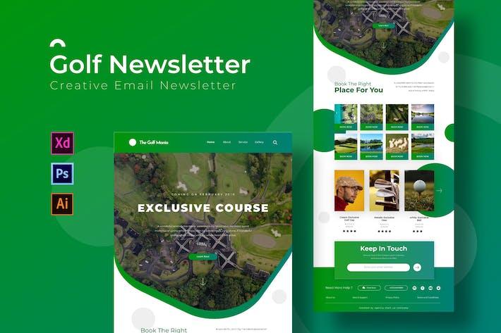 Thumbnail for Golf | Newsletter Template