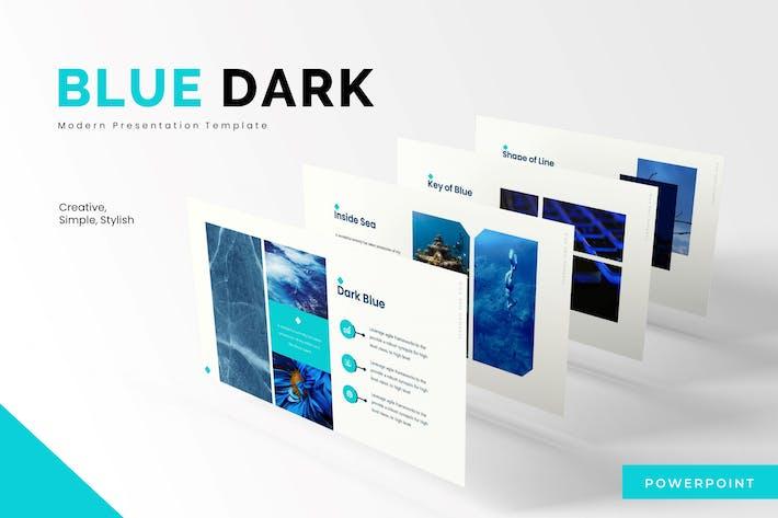 Thumbnail for Синий Темный - Powerpoint Шаблон