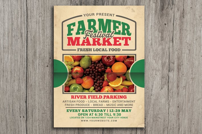 Thumbnail for Farmer Market Event Flyer