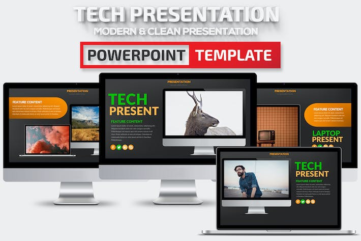 Tech Powerpoint Presentation Template
