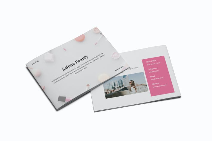 Beauty Salon A5 Brochure Template