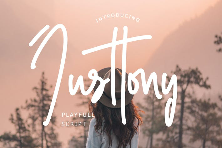 Thumbnail for Justtony Playful Script Font
