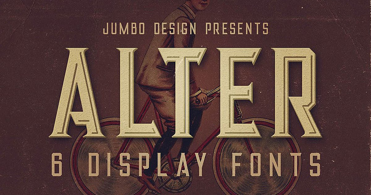 Download Alter - Vintage Style Font by cruzine