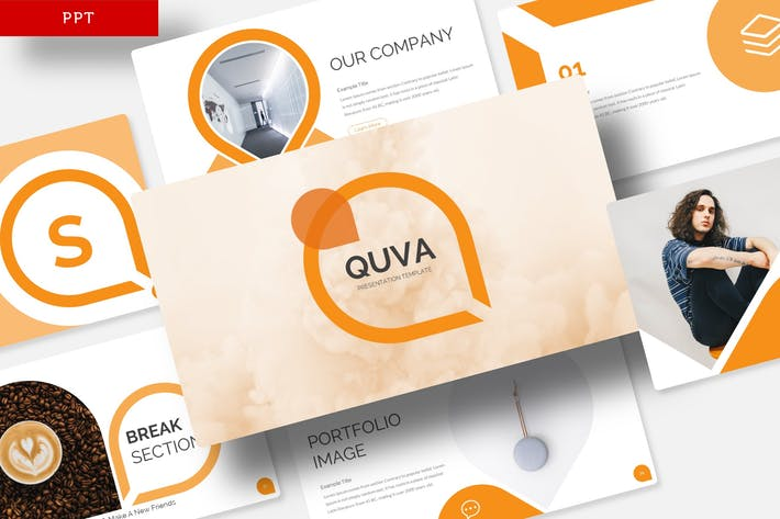 Cover Image For Quva - Power Point Template