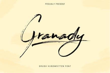 Granady Handwriting Brush Font