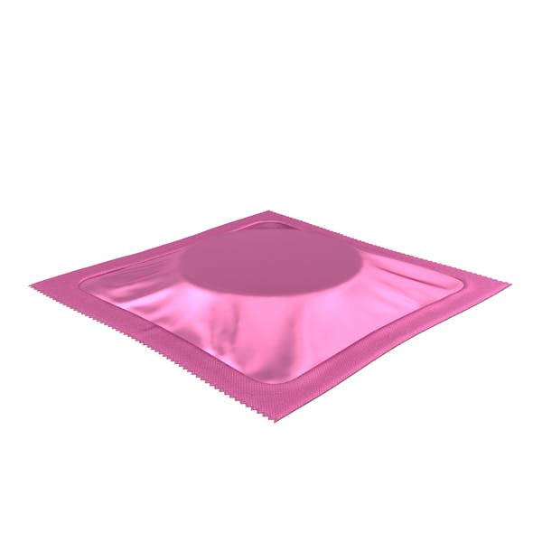 Square Condom Packaging Pink