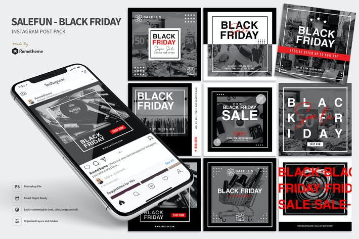 Cover Image For Salefun - Black Friday Promotion Instagram Post HR