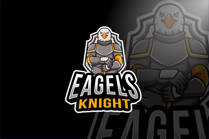 Thumbnail for Eagles Knight Esport Logo Template
