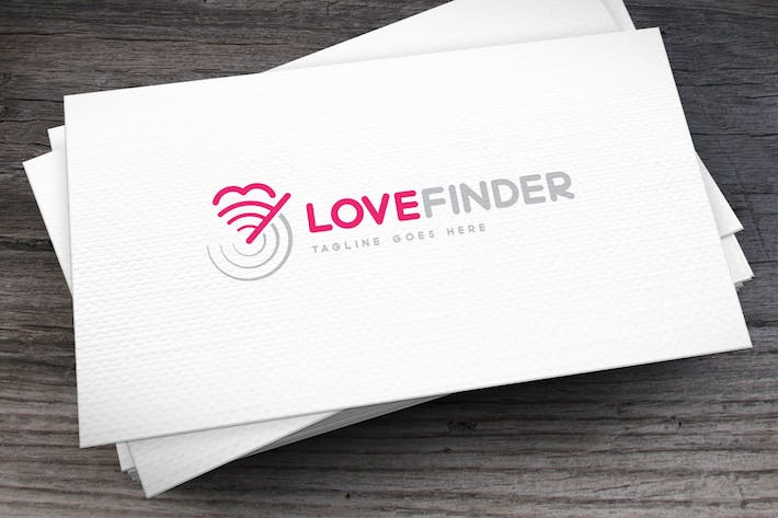 Cover Image For Love Finder Logo Template