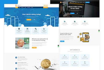 CryptoCoin - Cryptocurrency & Mining Template