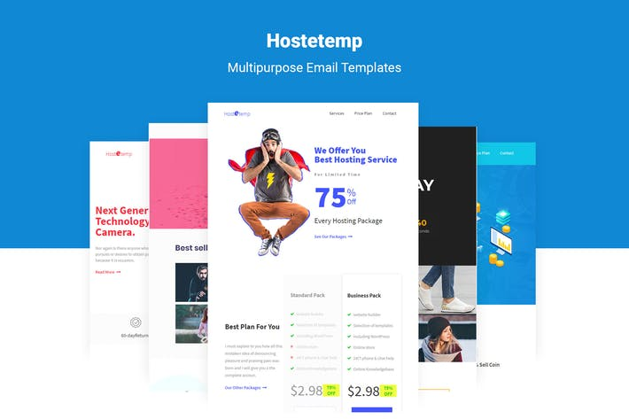 Cover Image For Hostetemp - Multipurpose Email Templates & Builder