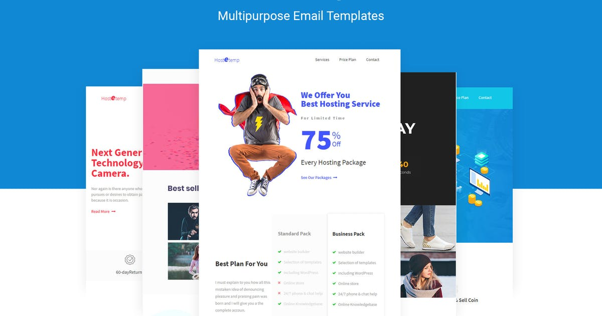 Download Hostetemp - Multipurpose Email Templates & Builder by themelooks