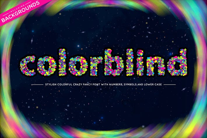 Thumbnail for Colorblind OTF Colorful Font