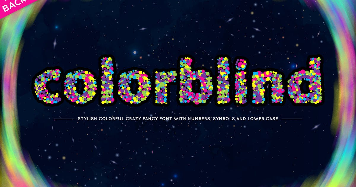 Download Colorblind OTF Colorful Font by CkyBe