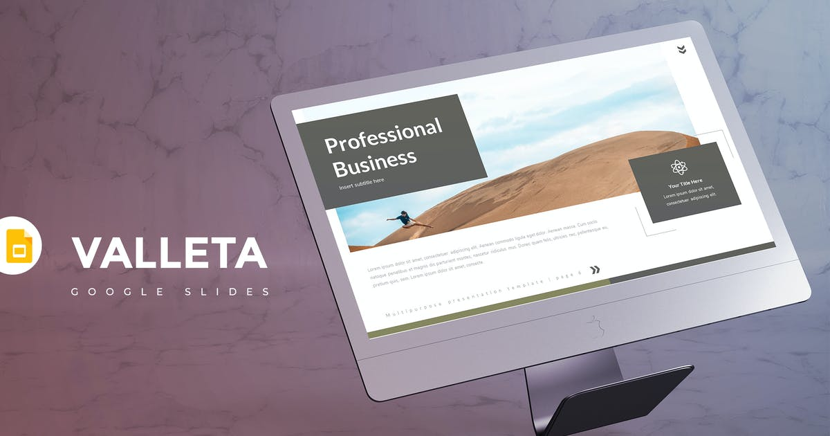 Download Valleta - Google Slide Template by aqrstudio