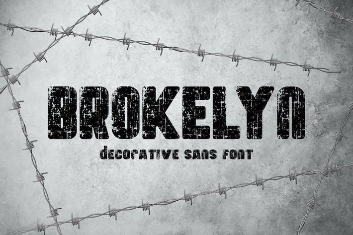 Thumbnail for Брокелин - Шрифт