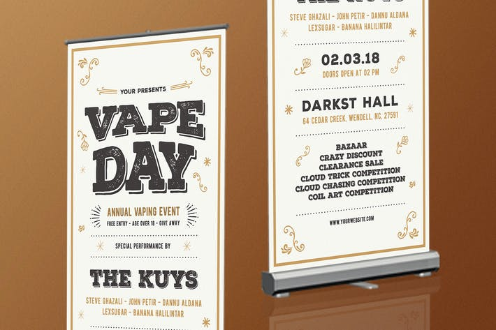 Thumbnail for Vape Vintage Roll Up Banner