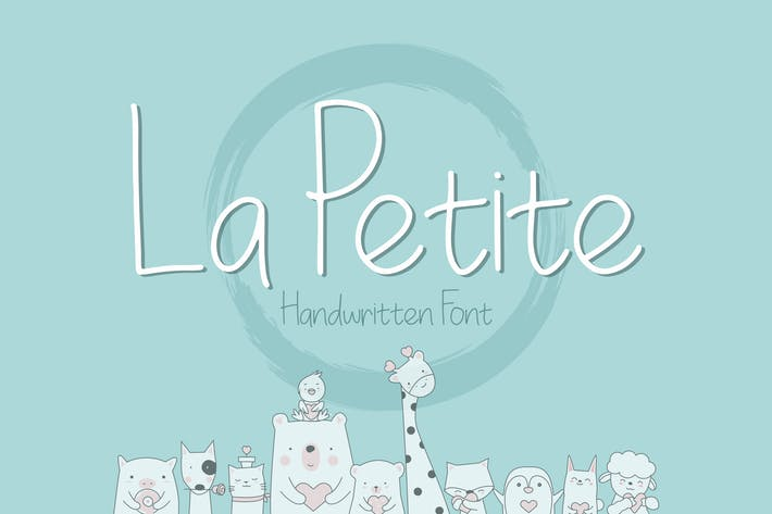 Thumbnail for La Petite Handwritten Font