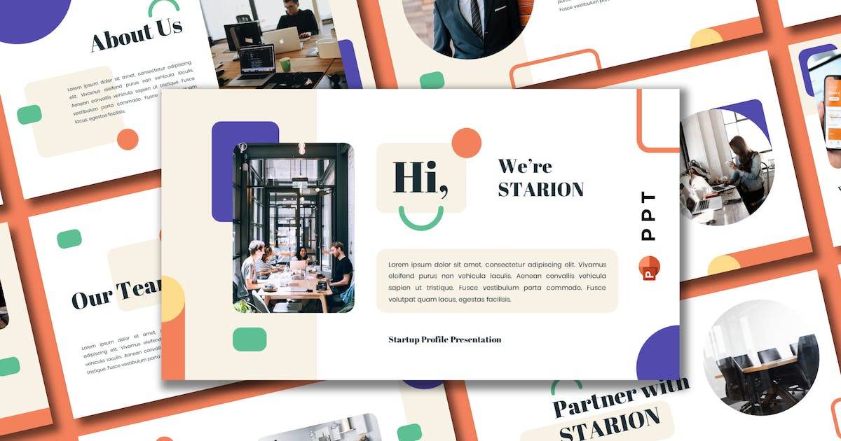 Download STARION - Startup Profile Powerpoint Template by inipagi