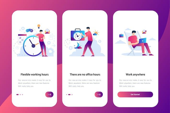 Thumbnail for Remote Working - Onboarding Illustration