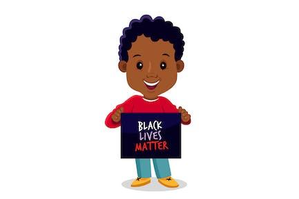 Kid Holding Black Lives Materie Zeichen