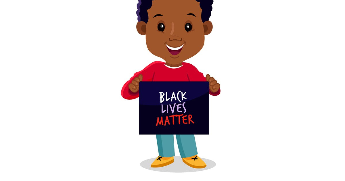 Download Kid Holding Black Lives Matter Sign by MissChatZ