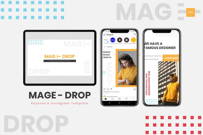 Thumbnail for MAGE DROP - Шаблон ключевых заKeynote и Instagram