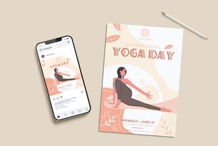 International Yoga Day Set Templates