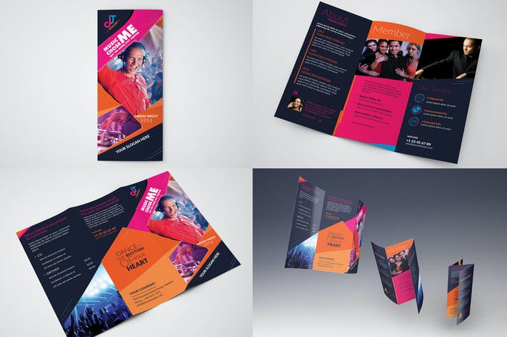 Thumbnail for DJ/ Trifold Brochure Template02