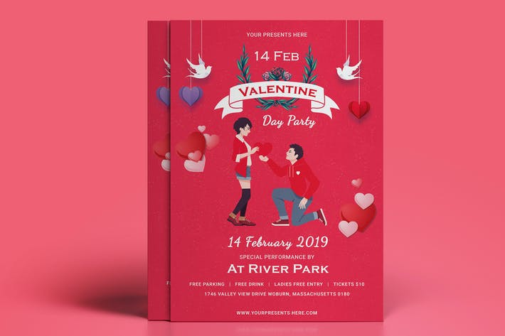 Thumbnail for Valentines Day Party Flyer-02