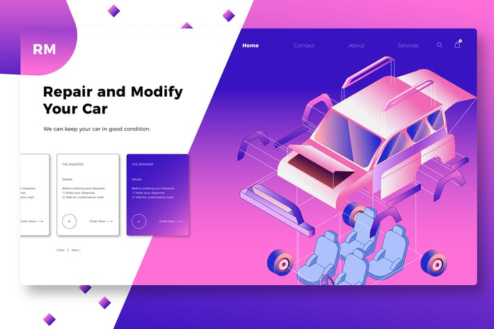 Thumbnail for Custom Car - Banner & Landing Page