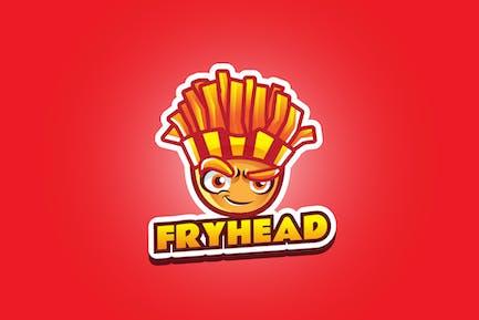 fry head - Mascot Logo