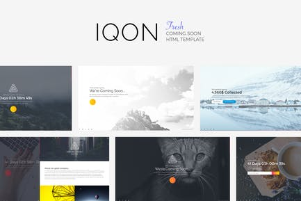 IQON - Fresh Coming Soon Template
